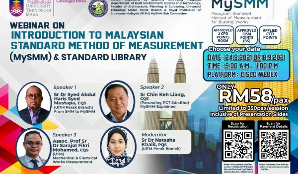Webinar on the Introduction to Malaysian Standard Method of Measurement (MySMM) and Standard Library